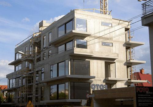 Budynek mieszkalny w technologii monolitycznej