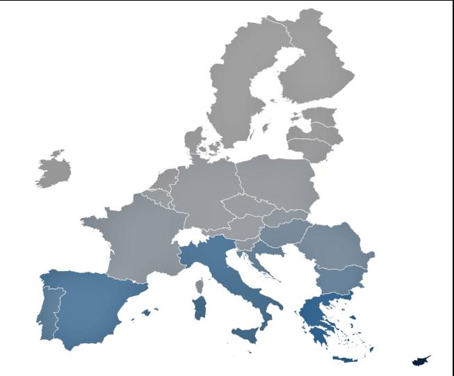 Wskaźnik stopniodni chłodzenia w Europie - średnia 10-letnia